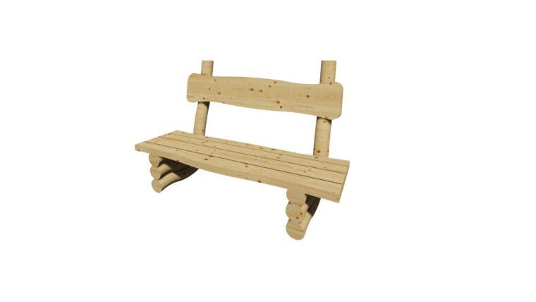ספסל עץ ריהוט רחוב